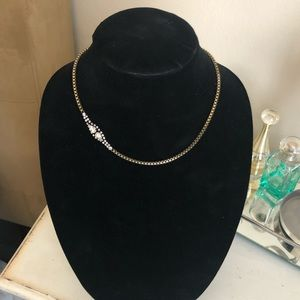 Petite Pear Crystal Collar Necklace